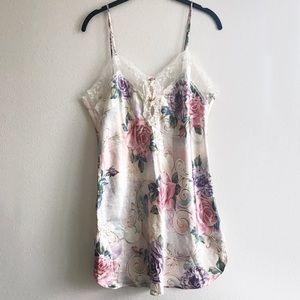 Vintage California Dynasty Silky Floral Slip Dress